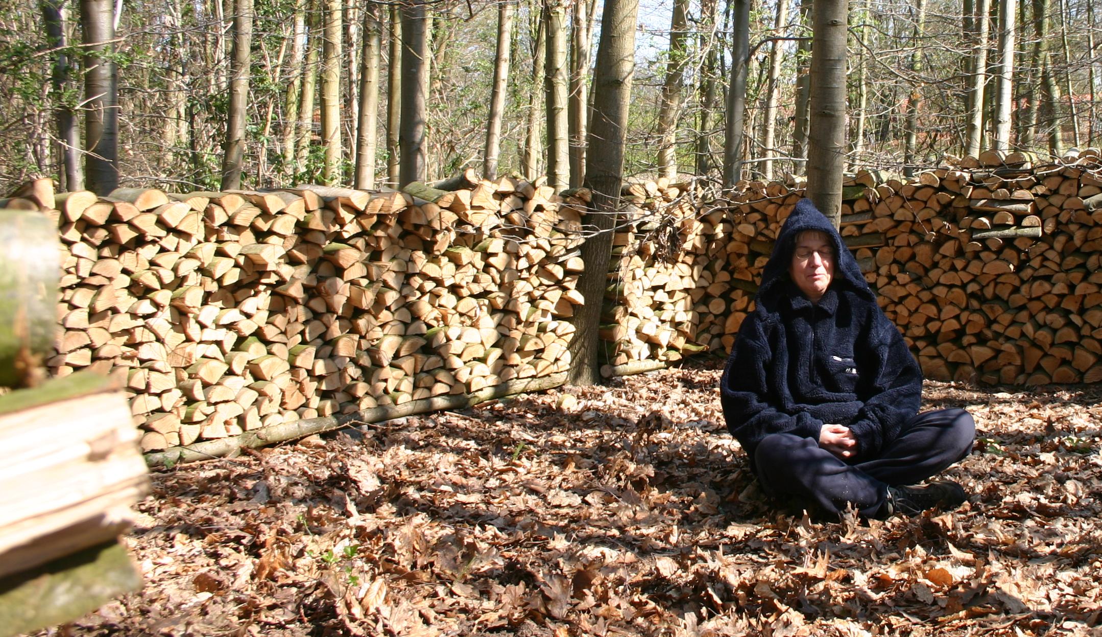 Aan de voet van een boom meditatie